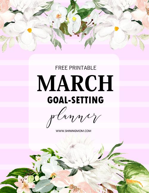 March goals planner