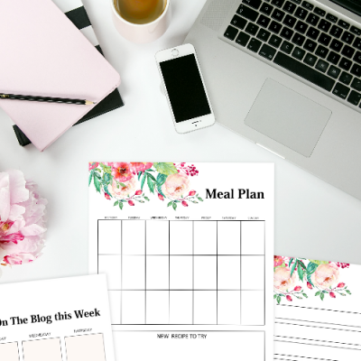 Free Monthly Calendar 2020 and Life Planner in Florals!