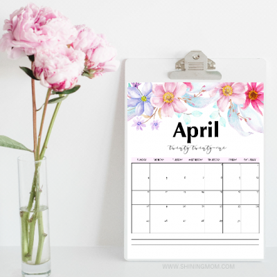 April Printable Calendars for Free!