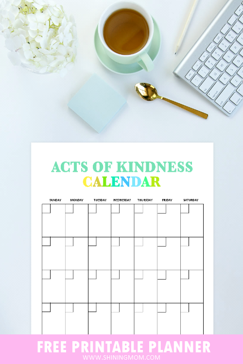 Acts of Kindness Calendar
