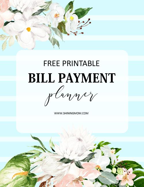 bill payment template planner