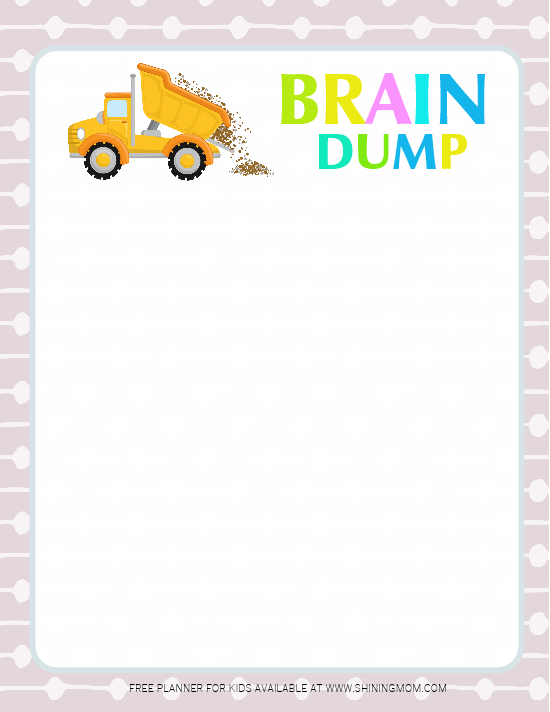 brain dump planner for kids
