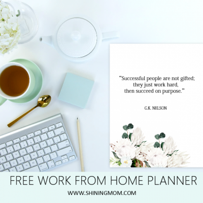 Free Printable Work From Home Planner