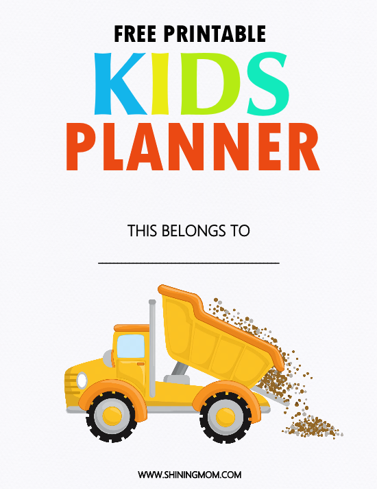 free printable kids binder