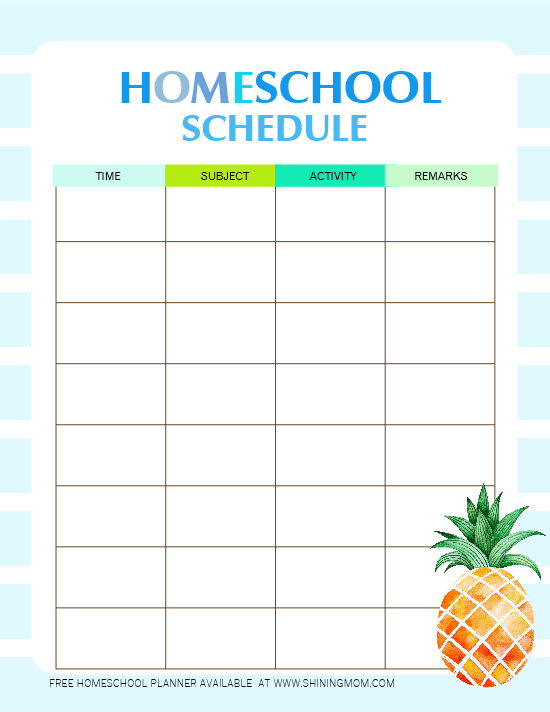 It is an image of Declarative Printable Homeschool Schedule