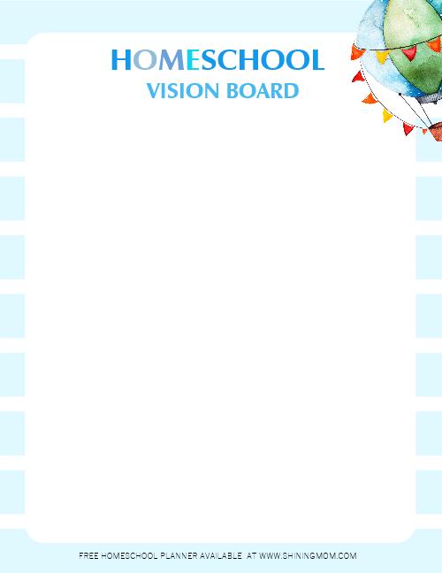 Homeschooling Vision Board