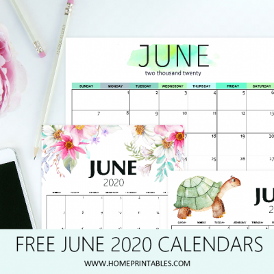 Free Printable June 2020 Calendar: 12 Fantastic Designs!