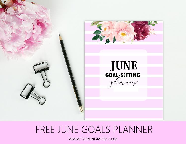 free printable June planner