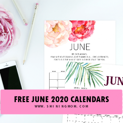 Download Your Free June 2020 Calendar!