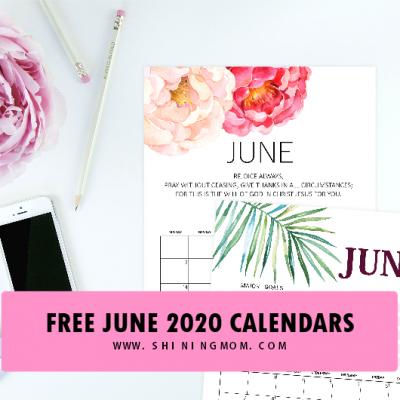 Download Your Free June 2020 Calendar!