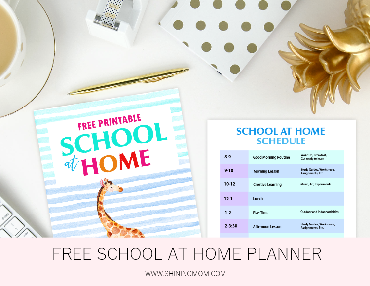 free printable school at home planner