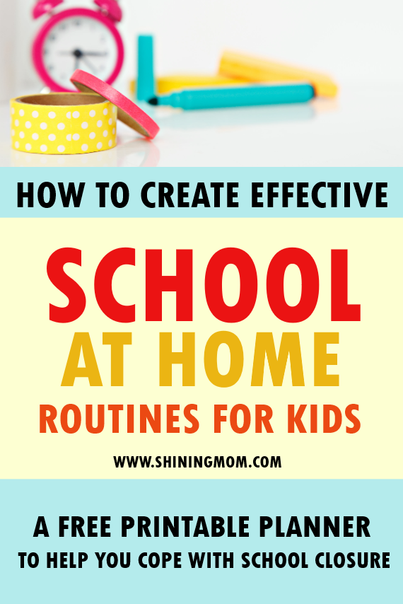 school at home planner routines