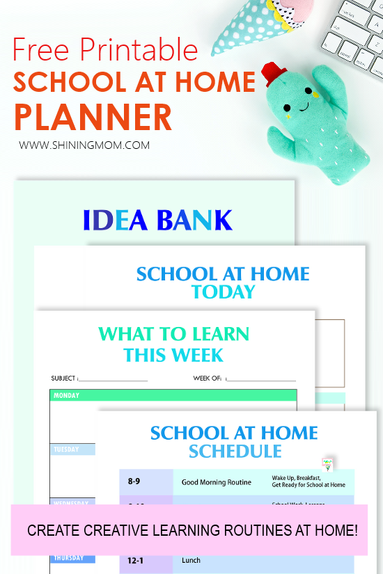 school at home printables