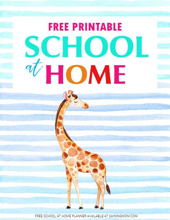 school at home planner free printable