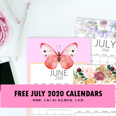 Five Gorgeous Calendars + Top  Printables for July!