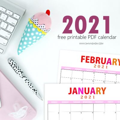 Lovely 2021 Printable Calendar PDF to Use for FREE!