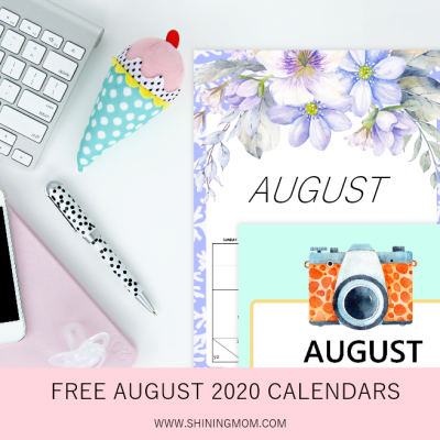 Free Printable August 2020 Calendar: 12 Awesome Designs!