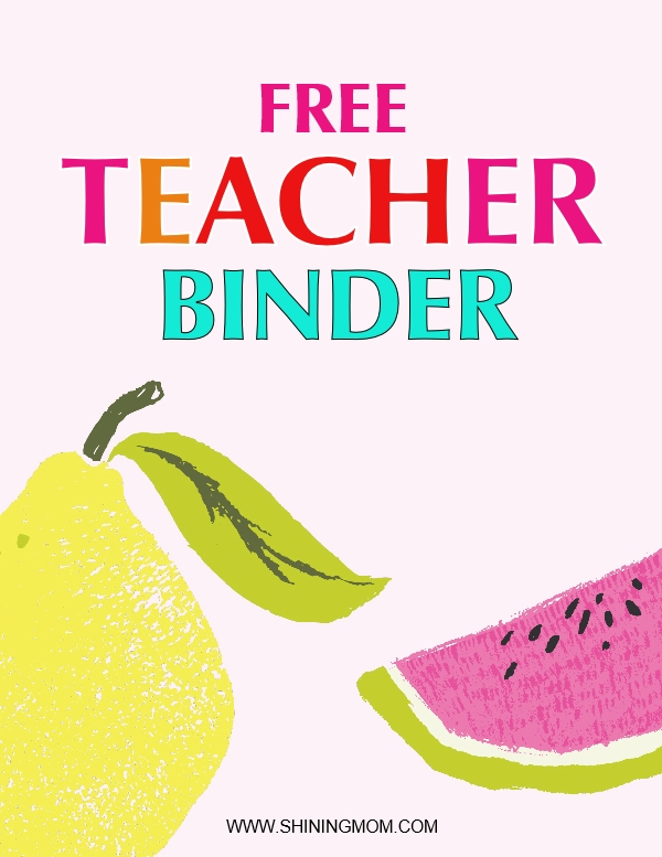 free printable teacher binder