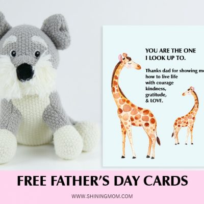 Father's Day Free Printables: 12 Cards and Posters!