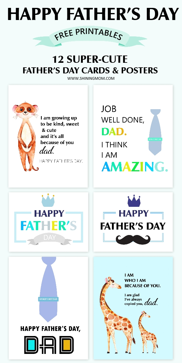 Happy Father's Day Free Printables