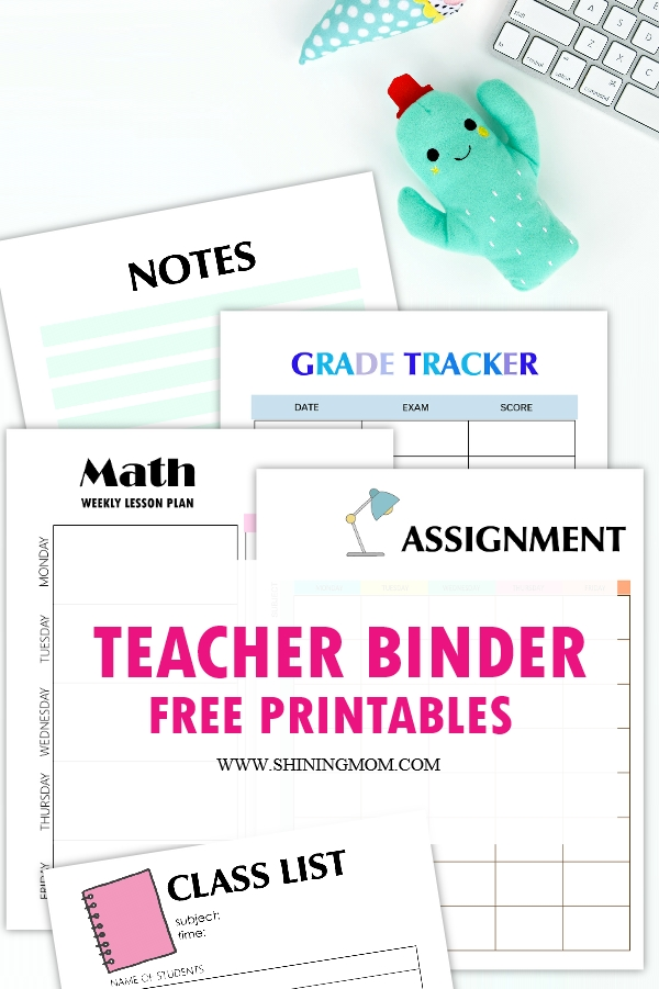 printable teacher planners