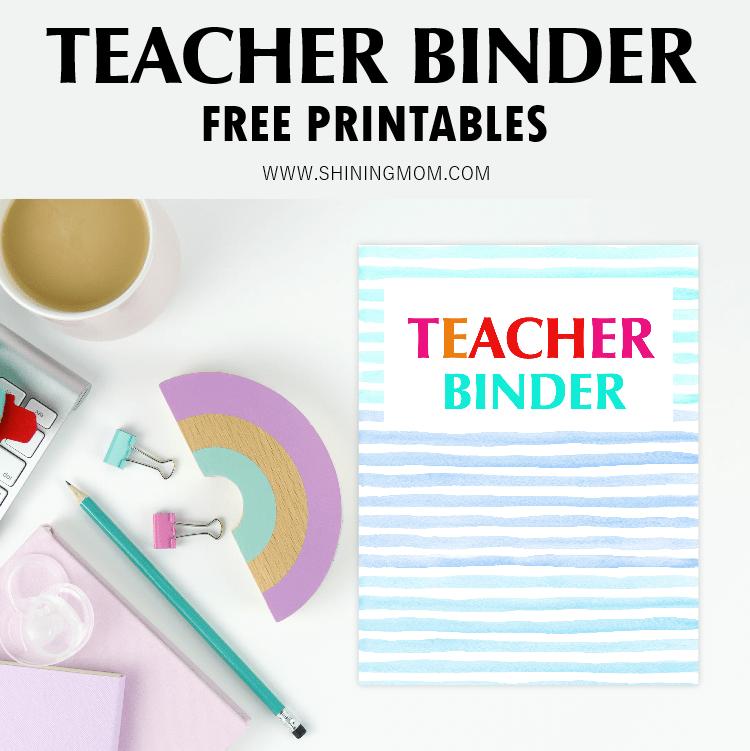 teacher binder printables