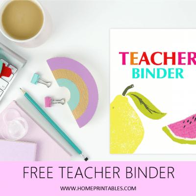 30+ Excellent Teacher Binder Free Printables