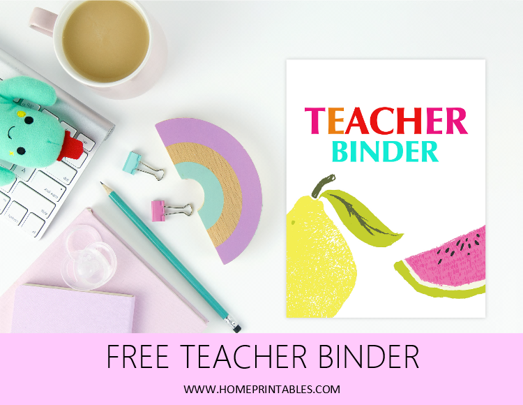 teacher binder printable