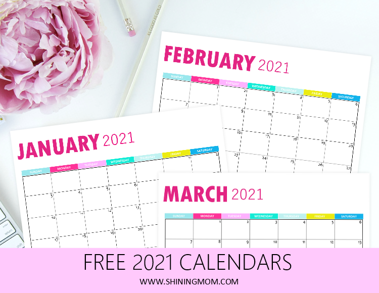 2021 monthly calendar printable