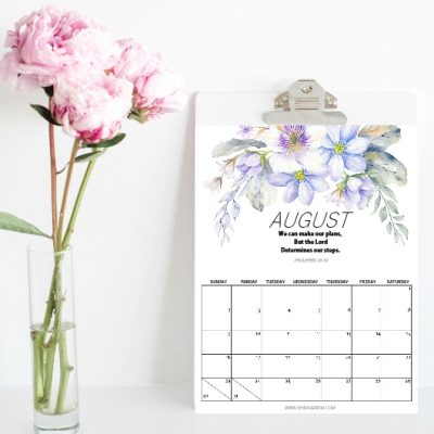 Printable August Calendars: Five Gorgeous Designs!
