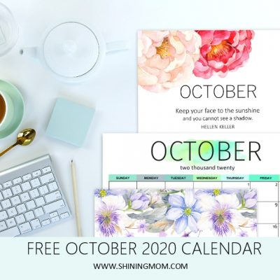 Free Printable October 2020 Calendar: 12 Awesome Designs!