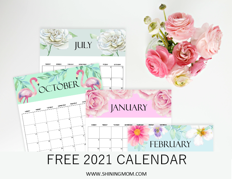 Calendar 2021 Printable Cute Images