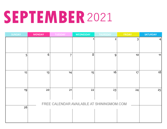 printable September 2020 calendar monthly