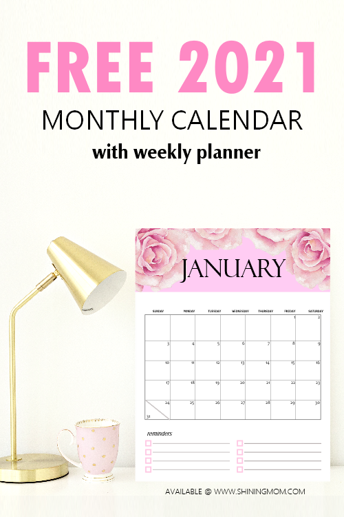 calendar 2021 printable monthly