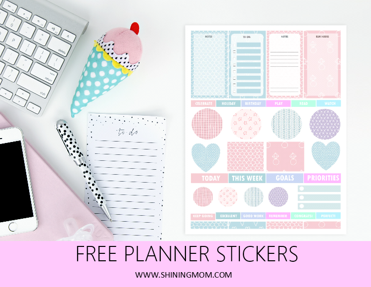 free printable planner sticker
