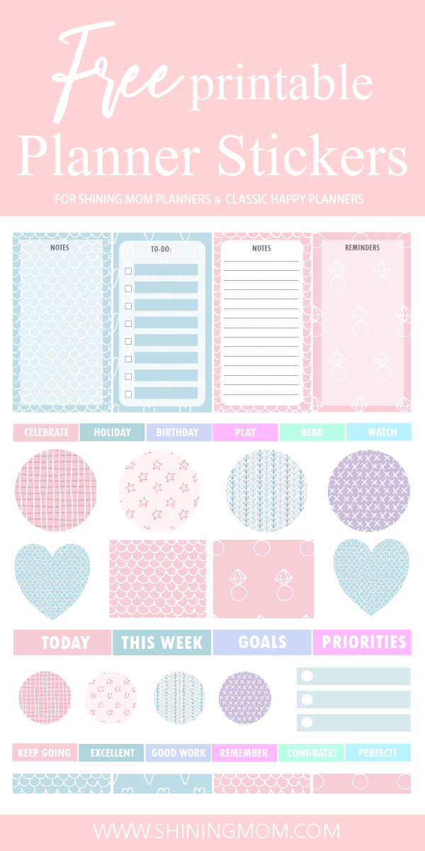 Free Printable Planner Stickers In Cute Patterns
