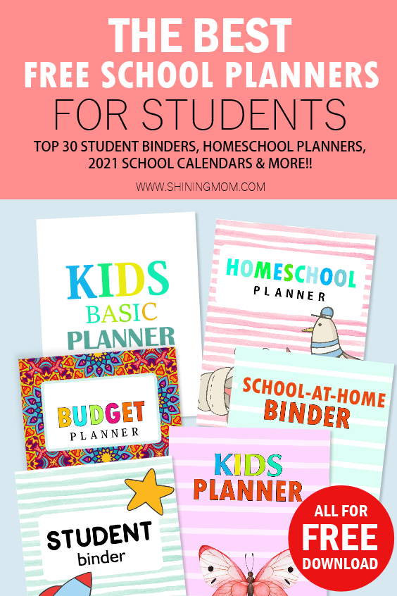 school planners printable free
