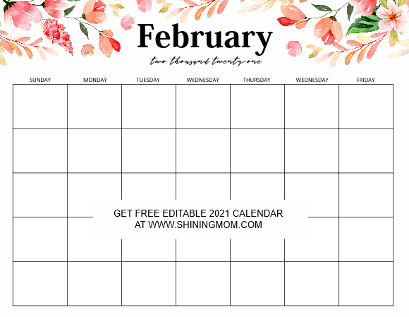 Free Editable Weekly 2021 Calendar : While printing the ...