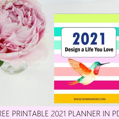 Free Planner 2021 in PDF: Design a Life You Love!