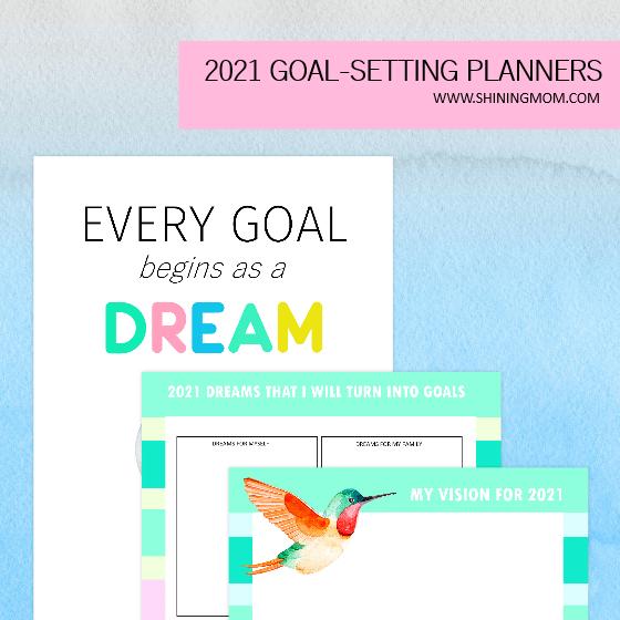 goal setting planner 2021 printables free