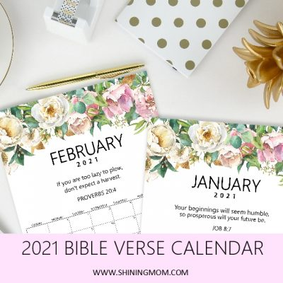 FREE Bible Verse Calendar 2021 to Inspire You!