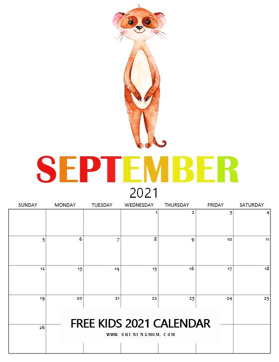 September 2021 calendar free