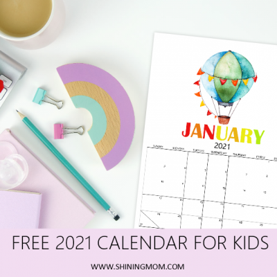 Free Kids Calendar 2021 in Super-Cute Theme: So Fun to Use!