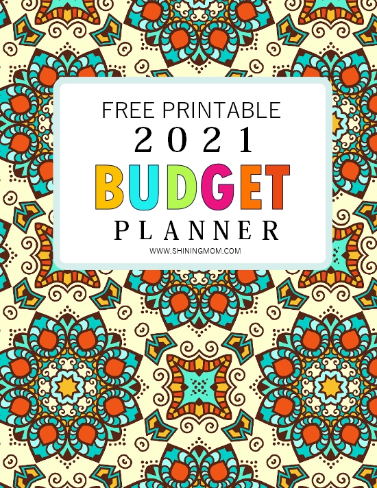 budget planner 2021 free printable