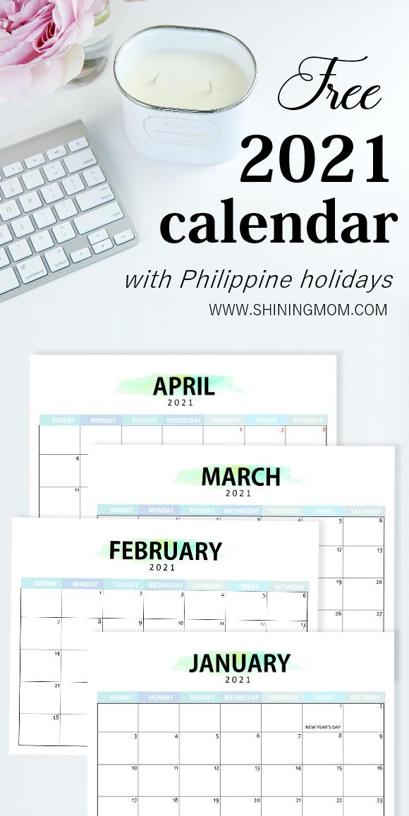 Philippine calendar 2021