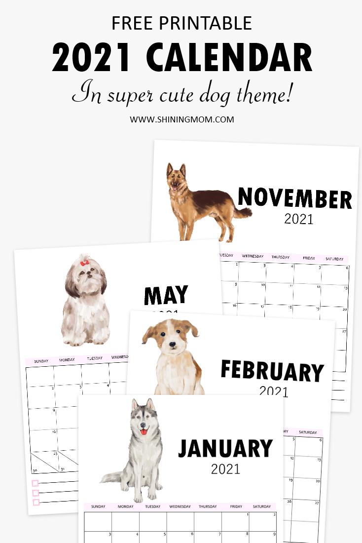 cute 2021 calendar printable