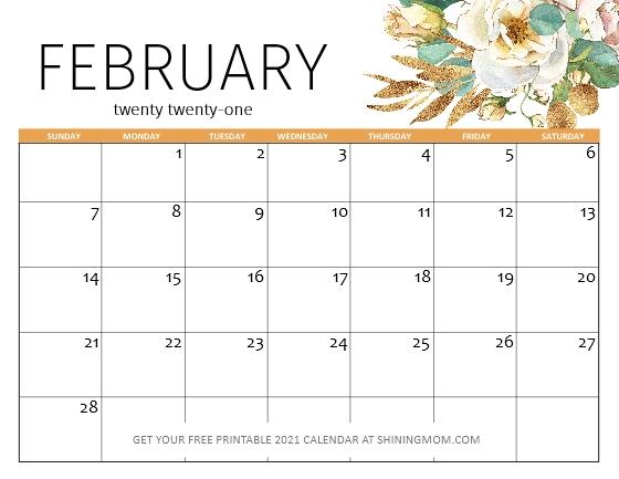 FREE Printable February 2021 Calendar: 12 Awesome Designs!