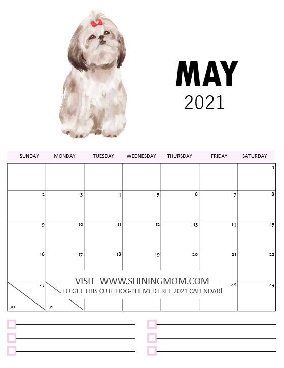 2021 calendar printable May