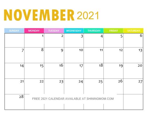 November 2021 Calendar