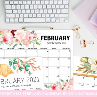 Free Printable February 2021 Calendar: 12 Awesome Designs!